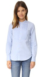 Current Elliott The Emily Top Blue Cambridge Stripe