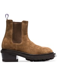 Eytys Brown Nikita Suede Leather Boots