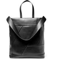 Solid Homme Leather Tote Bag Black