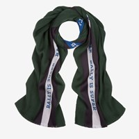 Bally Men's Wool And Silk Scarf In Ivy Green