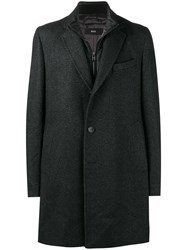 Hugo Boss Single Breasted Overcoat Grey