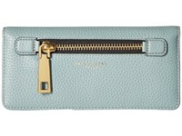 Marc Jacobs Gotham Open Face Wallet Dolphin Blue Wallet Handbags