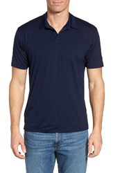 Ibex Men's 'Cirrus' Merino Wool Jersey Polo Midnight
