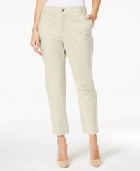 Charter Club Embellished Slim Fit Ankle Pants Only At Macy's Birch Tree