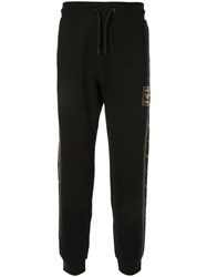 Emporio Armani Logo Patch Track Pants Black