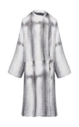 Christopher Kane Cross Reversible Mink Fur Coat Black White