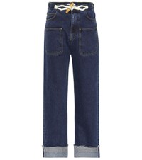 J.W.Anderson Toggle Wide Leg Jeans Blue