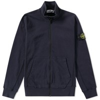 Stone Island Garment Washed Track Jacket Blue