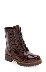 Bos. And Co. Women's 'Paula' Waterproof Boot Red Crinkle Patnet Leather