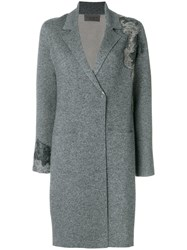 D.Exterior Single Breasted Coat Grey