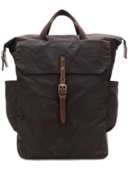 Ally Capellino Flap Pocket Backpack Brown