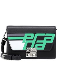 Prada Elektra Leather Shoulder Bag Black