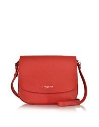 Lancaster Paris Adele Saffiano Leather Crossbody Bag Red