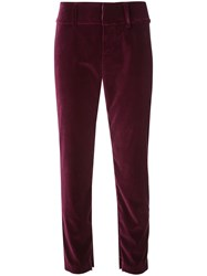 Alice Olivia Stacey Slim Fit Cropped Trousers Purple