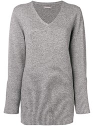 Hemisphere Flared Hem Sweater Grey