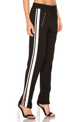 Pam And Gela Zippered Pant With Side Stripes Black