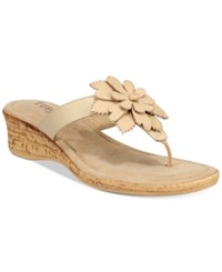 Easy Street Shoes Tuscany Gilda Wedge Sandals Women's Natural