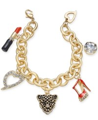Thalia Sodi Gold Tone Enamel And Crystal Glamour Charm Bracelet Only At Macy's