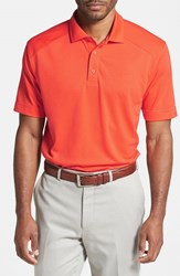 Cutter And Buck Men's Big Tall 'Genre' Drytec Moisture Wicking Polo College Orange