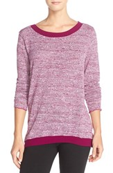 Women's Hard Tail 'Switch Back' Knit Tee Berry Berry