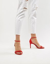 Stradivarius Barely There Sandal Red