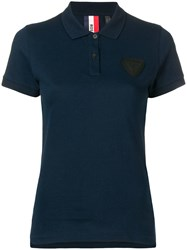 Rossignol Patch Detail Polo Shirt Blue