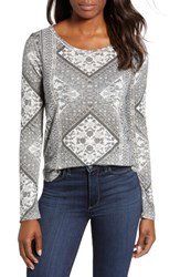 Lucky Brand Tapestry Blouse Natural Multi
