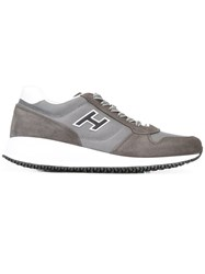 Hogan Chunky Sole Lace Up Skeaners Grey