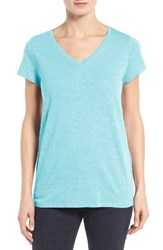 Eileen Fisher Women's Organic Cotton V Neck Tee Scarab