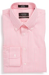 Men's Big And Tall Nordstrom Non Iron Traditional Fit Gingham Dress Shirt Pink Aurora