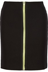 Alexander Wang Neon Trimmed Cotton Blend Mini Pencil Skirt Black