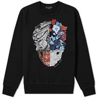 Alexander Mcqueen Multi Panel Print Sweat Black