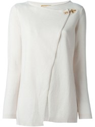 Fay Hook Fastening Cardigan Nude And Neutrals