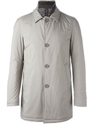 Herno Double Lapel Zipped Jacket Grey
