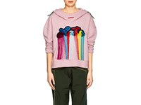 Mira Mikati Always Late Cotton Terry Hoodie Pink