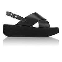 Barneys New York Women's Crisscross Strap Platform Sandals Black Blue Black Blue