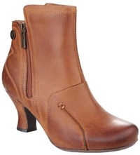 Hush Puppies Lydie Zip Up Ankle Boots Tan