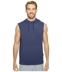 Nike Fleece Pullover Sleeveless Training Hoodie Binary Blue Black Men's Clothing