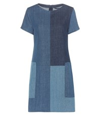 J Brand Luna Denim Mini Dress Blue