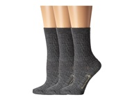 Smartwool Cable Ii 3 Pack Medium Grey Women's Crew Cut Socks Shoes Gray