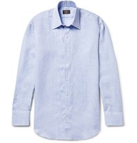 Emma Willis Slub Linen Shirt Light Blue