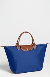 Longchamp 'Medium Le Pliage' Tote Blue