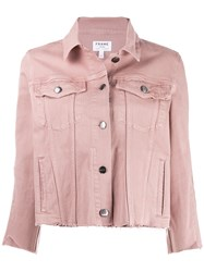 Frame Gusset Denim Jacket Pink