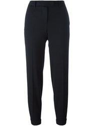 Alberto Biani Cropped Trousers Blue