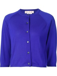 Marni Cropped Cardigan Blue