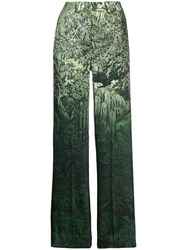 F.R.S For Restless Sleepers Printed Palazzo Trousers Green