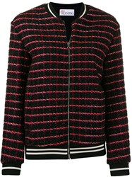 Red Valentino Checked Bomber Jacket 60