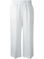 Isola Marras Wide Leg Cropped Trousers White