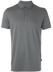 Hugo Boss Concealed Fastening Polo Shirt Grey