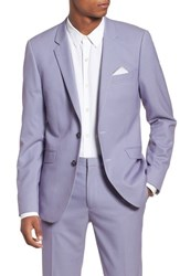 Topman Skinny Fit Suit Jacket Purple